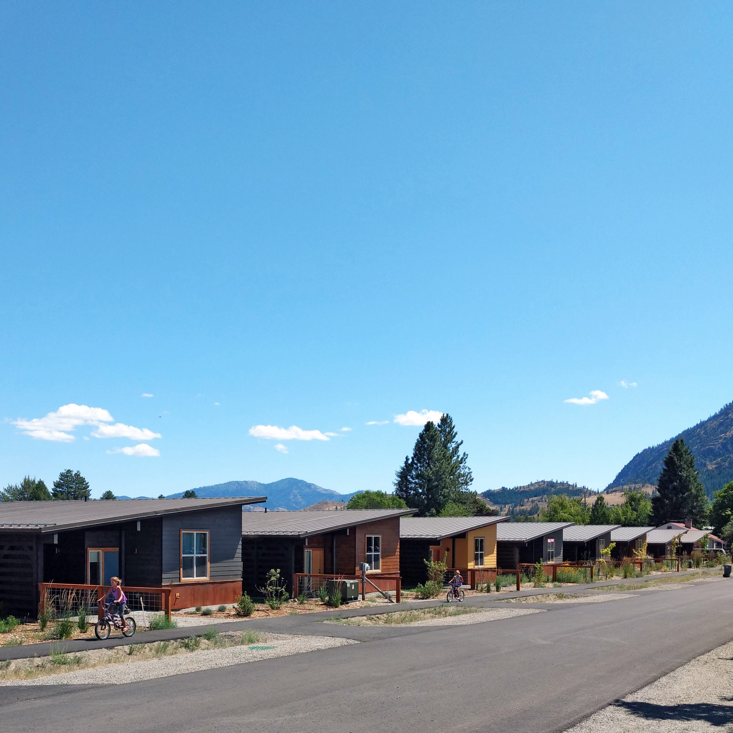 Houses on Canyon Street are an example of development in the Valley