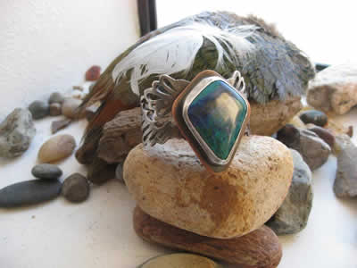 Glitter & Grit Silversmith - Turtle made with local stones