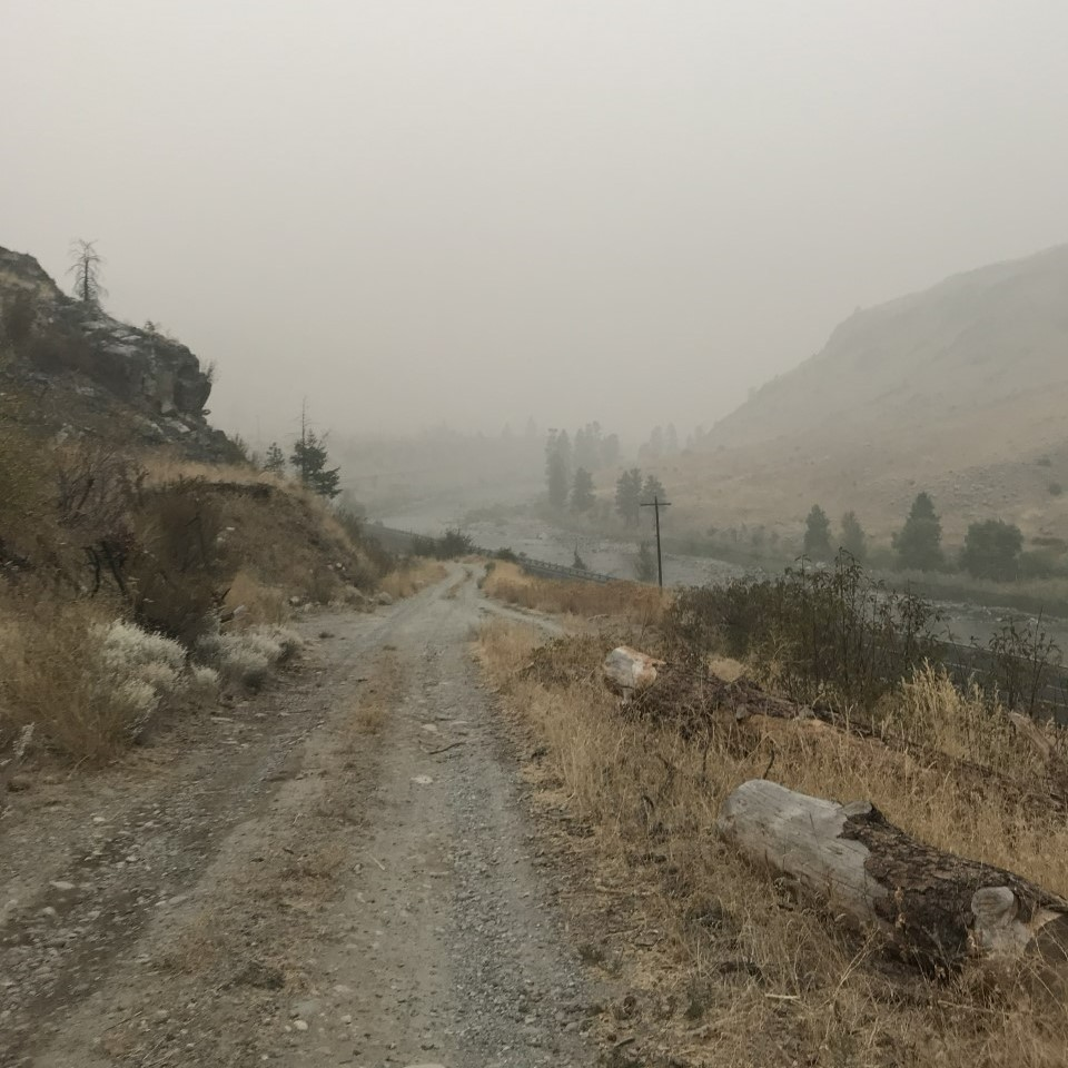 Smoke fills the Methow Valley